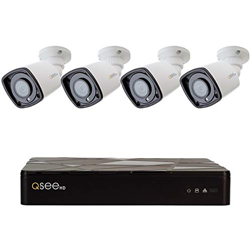 (Q-See 8-Channel 1080P 2TB NVR with 4 1080P IP HD Color Night Vision Bullet Cameras)