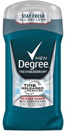 Degree Men Deodorant, Intense Sport 3 oz (Pack of 10)
