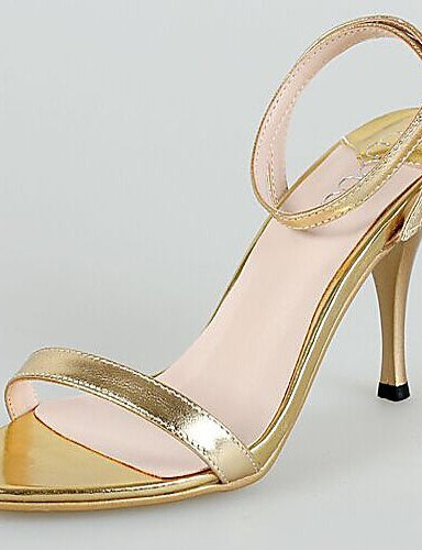 ShangYi Womens Shoes Synthetic Stiletto Heel Heels Sandals Wedding/Party & Evening/Dress Gold gold