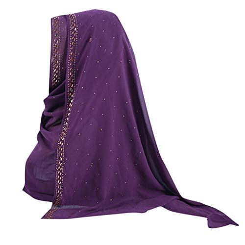 - HYIRI Women's Trilby Gangster Muslim Ruffle Hijab Scarf Shawl Head Wrap