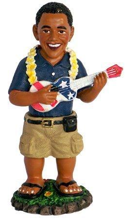 Barack Obama Playing the Ukulele Dashboard Doll 4'' by KC Hawaii by KC Hawaii