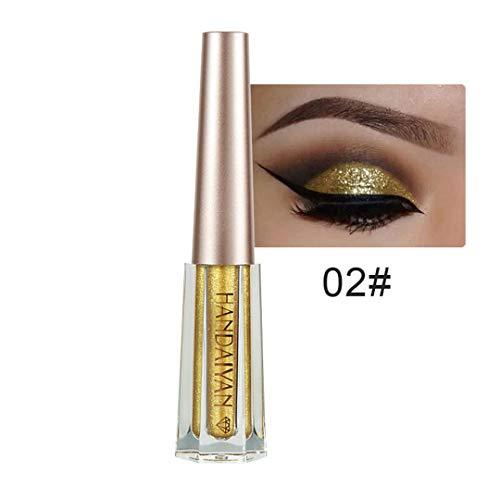 MEIJILI Glitter Diamond Liquid Eyeshadow Makeup Waterproof Long Lasting Metallic Eyeshadow Liner Combination 2 -