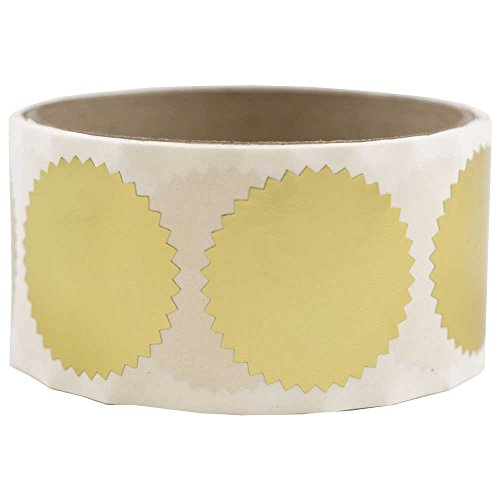 - JAM PAPER Circle Label Wafer Seals with Serrated Edges - 1.5 Inch Diameter - Gold - 100/Pack