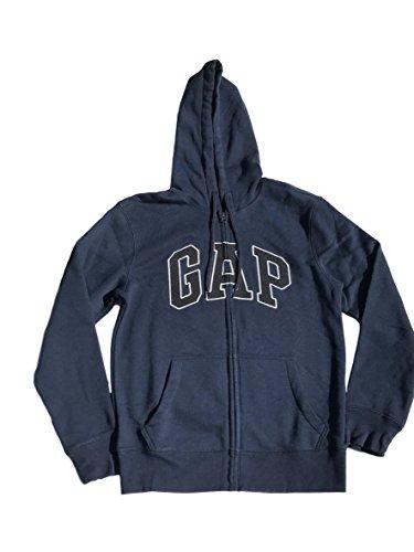 (GAP Mens Fleece Arch Logo Full Zip Hoodie (X-Large, Dark Blue))