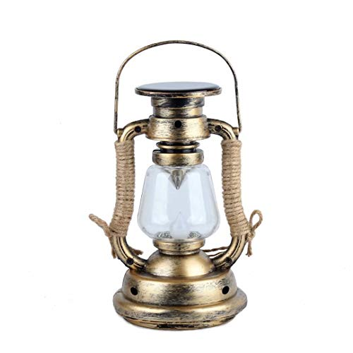 Pensura Solar Power Oil Lamp Fake Flame Light Vintage Lantern Vintage Hanging Lantern Flameless Candle for Windows Home Party Outdoor Indoor Decoration Camping Holiday Props 1PCS