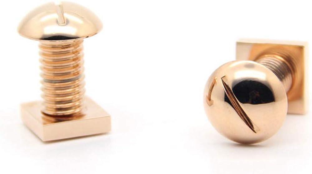 Screw Nut and Bolt Cuff Links Rose Gold Cufflinks