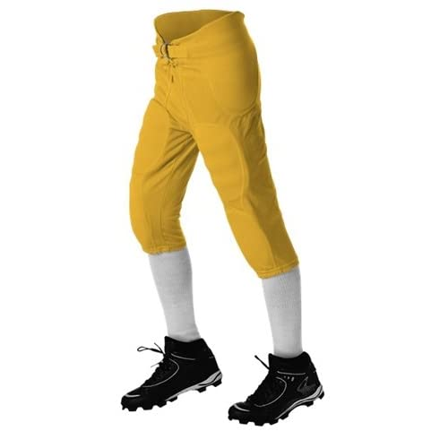 Alleson Solo Series Integrated Football Pants - Gold - X-Large for sale