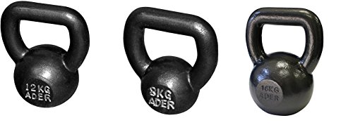 Ader Fat Handle Competition Kettlebell Set- (8, 12, 16kg) w/ FREE DVD