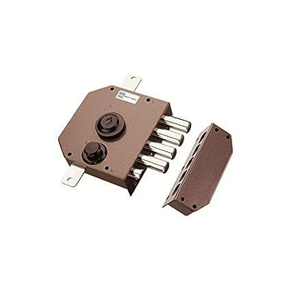 Mottura 630 A2P1 - Cerradura derecha de 3 puntos, color marrón