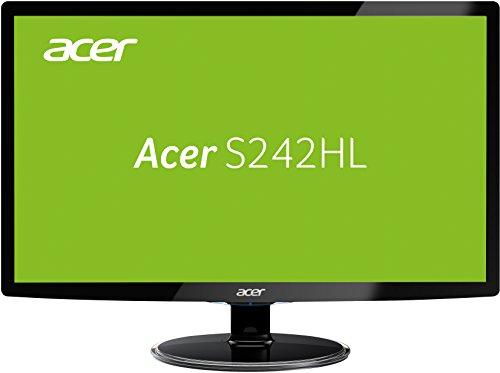 Acer S242HLDBID 60,1 cm (24 Zoll) Monitor (VGA, HDMI, 1ms Reaktionszeit) schwarz