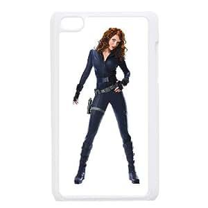 Fashion Style for iPod 4 Case White black widow iron man 2 YSJ2311428