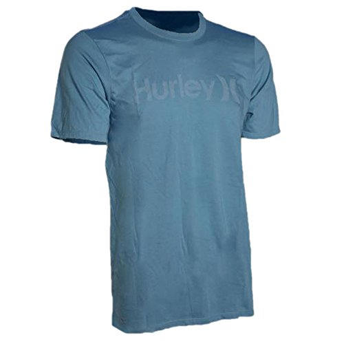 (Hurley Mens One and Only Push Through Tee S Cerulean)