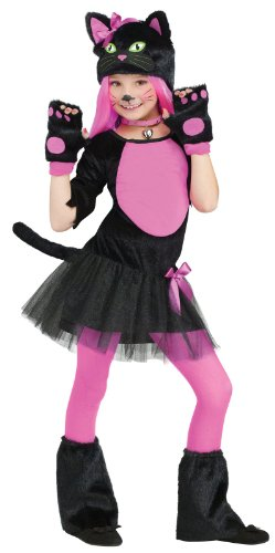Miss Kitty Cat Kids Costume, M (Child Kitty Costumes)