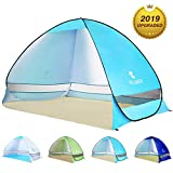 BATTOP Pop Up Beach Tent Sun Shelter Cabana Anti UV Beach Shelter for 2-3 Person Outdoor Sets up in Seconds