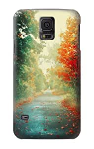 S0913 Road Through The Woods Case Cover for Samsung Galaxy S5