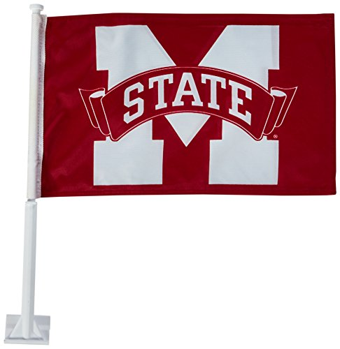 NCAA Mississippi State Bulldogs Car Flag with Free Wall -