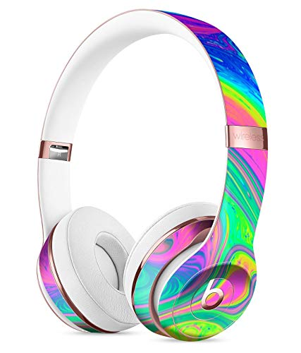 Neon Color Fushion V3 DesignSkinz Full-Body Skin Kit for The Beats by Dre Solo 3 Wireless Headphones/Ultra-Thin/Matte Finished/Protective Skin Wrap