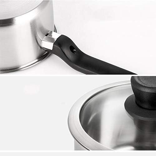 DYXYH Pot de lait épais d'acier inoxydable, pot de soupe de cuiseur d'induction
