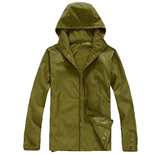 ZKOO Deportiva Chaqueta Unisex Anti-ultravioleta Exodus Softshell Jacket Ropa al Aire Libre Chaqueta Para Mujer Hombre Ejercito verde