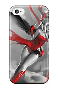 High Quality Angel In A Red Dress Case For Iphone 4/4s / Perfect Case