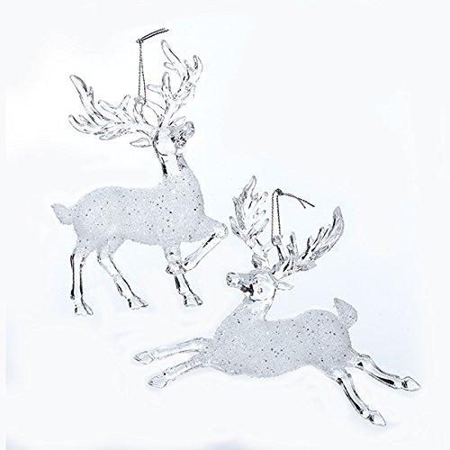 Kurt Adler 55 Clear Acrylic Reindeer Christmas Ornament 2