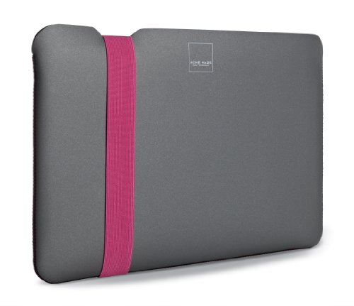 Acme Made Skinny Sleeve for 11-Inch MacBook Air, Grey/Pink (AM36676-PWW) ()
