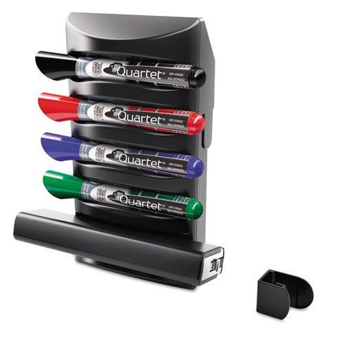Quartet 85377 Prestige 2 Connects Marker Caddy, 4 Chisel-Tip Markers, (Reg Chisel Tip Whiteboard Marker)