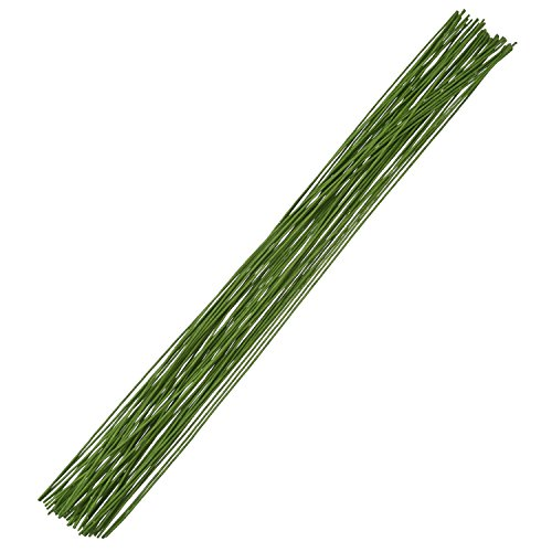 Floral Stem Wire (eBoot Floral Stem Wire 18 Gauge Wire 14 Inch, 50 Pack (Green))