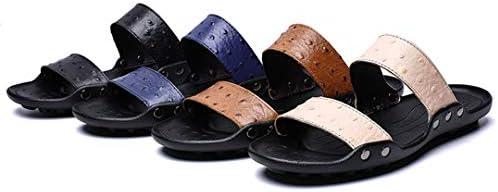 スリッパ サンダル メンズ 革 24-28.5cm 柔らかい 大きめ ビーチサンダル 幅広 軽量 滑り止め ビーサン ブルー・ブラック・ベージュ・ブラウン
