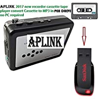 AplinK® USB Cassette Tape to MP3 Converter - Black + Silver