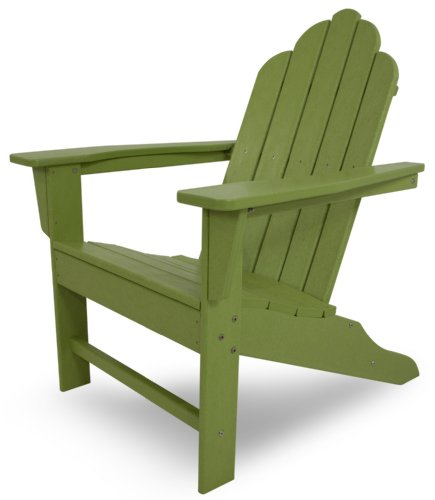 POLYWOOD ECA15LI Long Island Adirondack Chair, Height 38.50 – Width 31.25 – Depth 33.75 , Lime