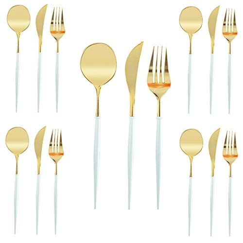 Fasclot Disposable Tableware Party Plastic Cutlery Set Knieves Forks Spoons Disposable Plastic Tableware Home & Garden Kitchen,Dining & Bar
