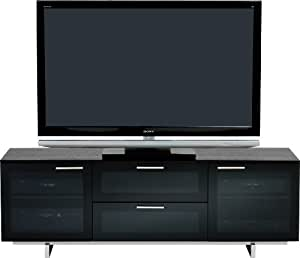 BDI Avion Noir 8937 Triple Wide Entertainment Cabinet, Black Stained Oak