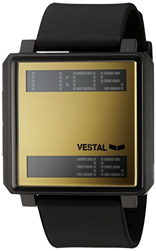 Vestal 'Transom' Quartz Stainless Steel and Polyurethane Casual Watch, Color Black (Model: TRADR07)