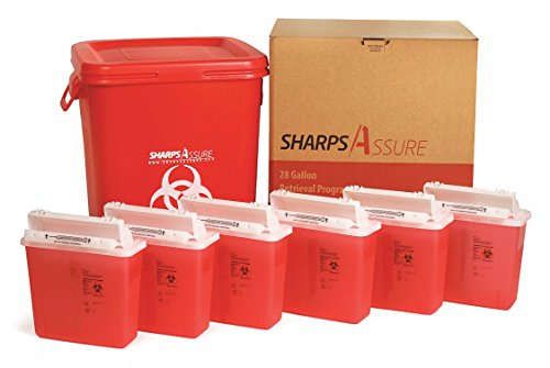 Sharps Container,20''W,28 gal.,Snap Lid by SHARPS ASSURE