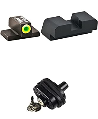 AmeriGlo SG-533 Hackathorn Sig Sauer Tritium Set ProGlo -lumi outline Front, Rear #8 Height Front #8 Height Rear + Ultimate Arms Gear Safety Trigger Lock by Ultimate Arms Gear