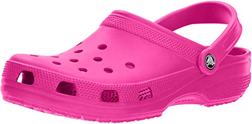 Crocs Classic Clog | Comfortable Slip on Casual Water Shoe, Neon Magenta, 10 M US Women / 8 M US Men