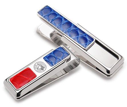 Money Clip Blue Red Pocket 2 Toronto Alligator amp; Rhodium Blue M Clip Jays 7qBPP
