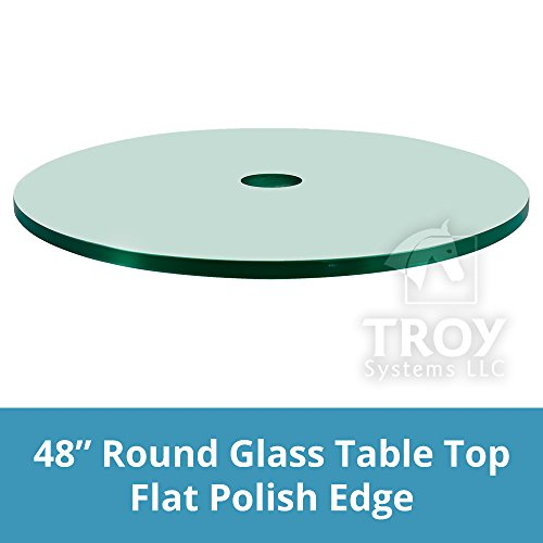 """Dulles Glass and MirrorPatio Table Top, 1/4"""" Thick, Flat Pol"""