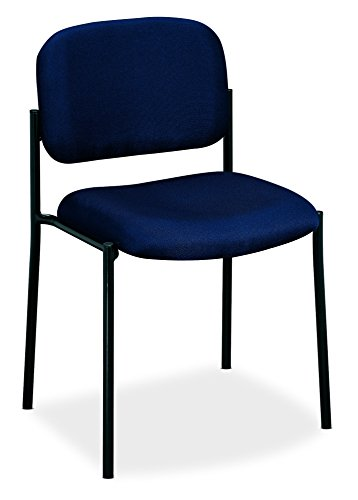 - HON Scatter Guest Chair - Upholstered Stacking Chair without Arms, Navy (HVL606)