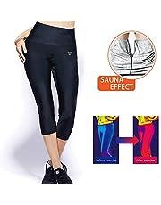 WARDBES Pantaloni di Perdita di Peso Pantaloni Sauna, Pantaloni Dimagranti delle Donne Hot Thermo Neoprene Sauna Sudore Cintura Modellante Pantaloni Termici per Sudorazione