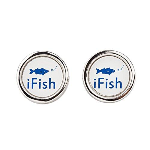Cufflinks (Round) iFish Fishing Fisherman