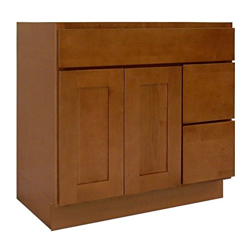 NGY HS-4221DR Honey Shaker Vanity Cabinet Maple Wood, 42