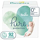 : Diapers Newborn / Size 0 (< 10 lb), 92 Count - Pampers Pure Disposable Baby Diapers, Hypoallergenic and Unscented Protection, Giant Pack