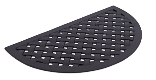 - BIRDROCK HOME Half Round Rubber Doormat | Semi-Circle Basket Weave Design | 18 x 30 Inch | Outdoor Welcome Mat