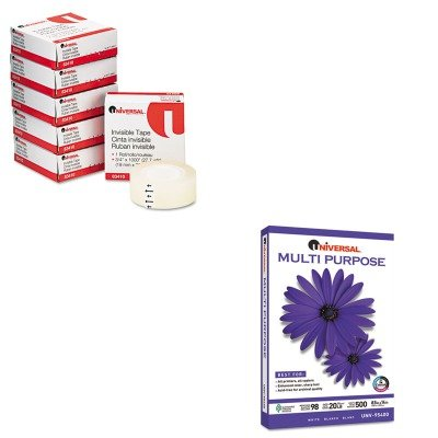 KITUNV83410UNV95400 - Value Kit - Universal Multipurpose Paper (UNV95400) and Universal Invisible Tape (UNV83410) by Universal