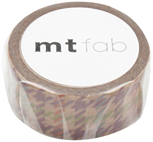 MT WAX Paper Tape Houndstooth, 15mm x 3m (MTWX1P02)