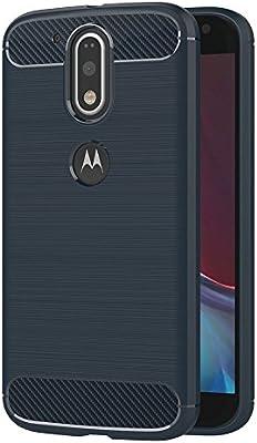 AICEK Funda Moto G4, Azul Silicona Fundas para Motorola Moto G4 ...