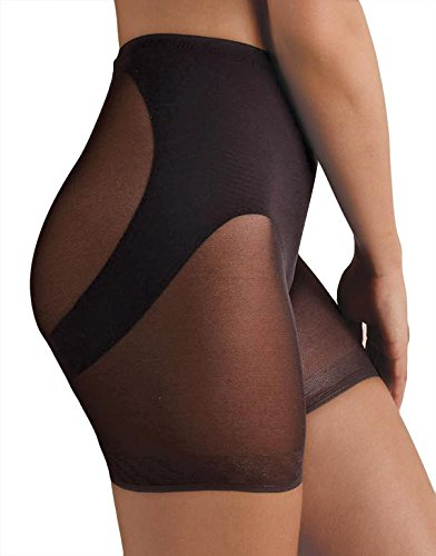 Miraclesuit Shapewear Sheer Derriere Lift Boyshorts, Nude, L (Women's 12-14)