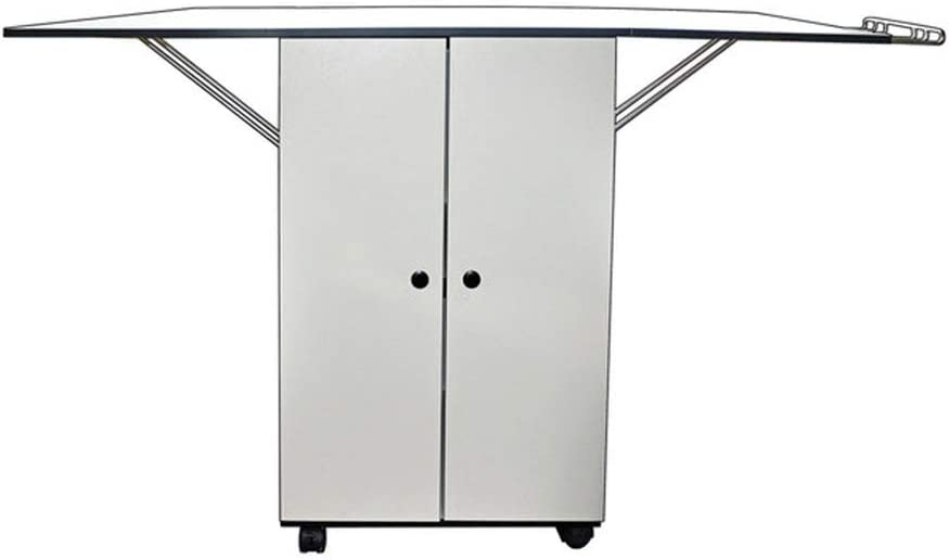 Sullivans Ironing Board Table Top - Includes One Ironing Center, Fitted Padded Cover, White Cabinet Caddy